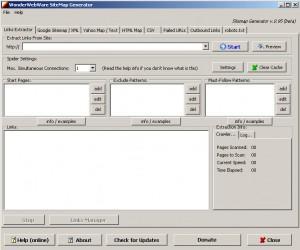 программа SiteMapGenerator для создания html и xml карты сайта
