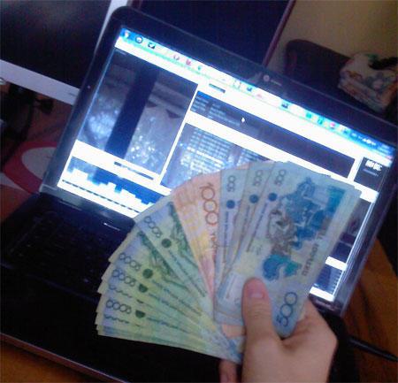 деньги из интернета которые поднял Костя